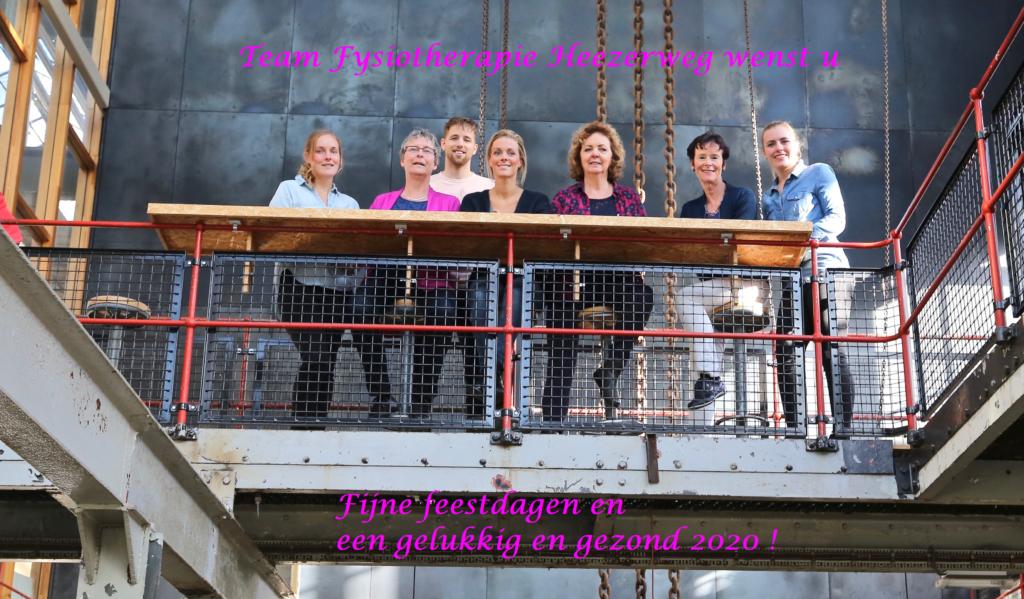Kerst groet team Fysiotherapie Heezerweg